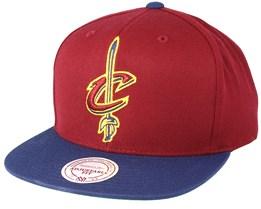 Cleveland Cavaliers XL Logo 2 Tone Scarlet/Dark Navy Snapback - Mitchell & Ness