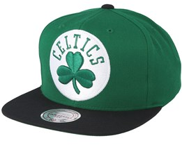 Boston Celtics XL Logo 2 Tone Green Snapback - Mitchell & Ness