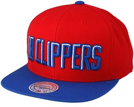 LA Clippers XL Logo 2 Tone Red Snapback - Mitchell & Ness