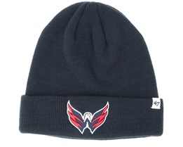 Washington Capitals Raised Knit Navy Cuff - 47 Brand