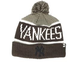New York Yankees Sox Calgary Gray Beanie - 47 Brand