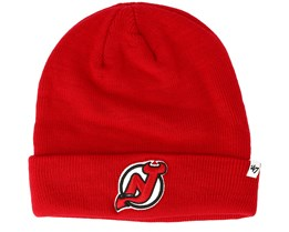 New Jersey Devils Raised Knit Red Cuff - 47 Brand