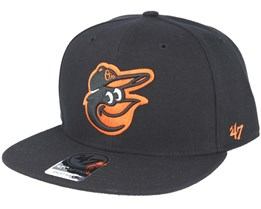 Baltimore Orioles Sure Shot Black Snapback - 47 Brand