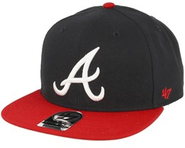 Atlanta Braves Sure Shot 2 Tone Navy/Red Snapback - 47 Brand