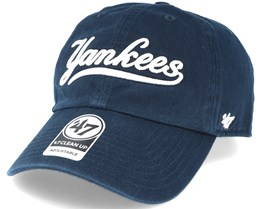 New York Yankees Script Clean Up Navy Adjustable - 47 Brand