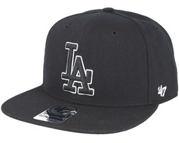 Los Angeles Dodgers Sure Shot `47 Captain Black Snapback - 47 Brand