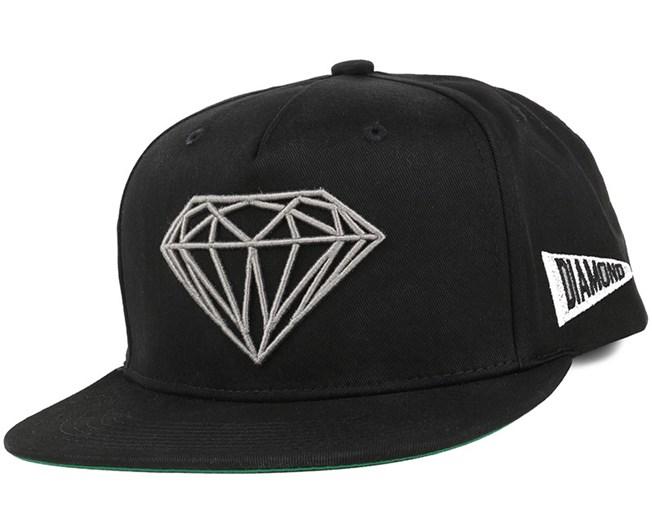 Brilliant Black Snapback - Diamond