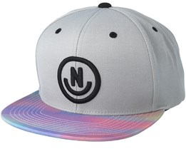Daily Smile Pattern Grey/Pastel Snapback - Neff