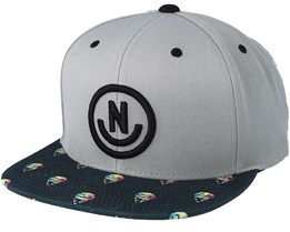 Daily Smile Pattern Grey/Oishii Snapback - Neff