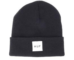 Box Logo Black Beanie - Huf