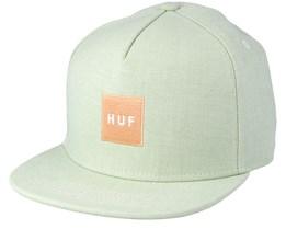 Denim Box Logo Sage Snapback - Huf