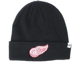 Detroit Red Wings Raised Knit Black Cuff - 47 Brand