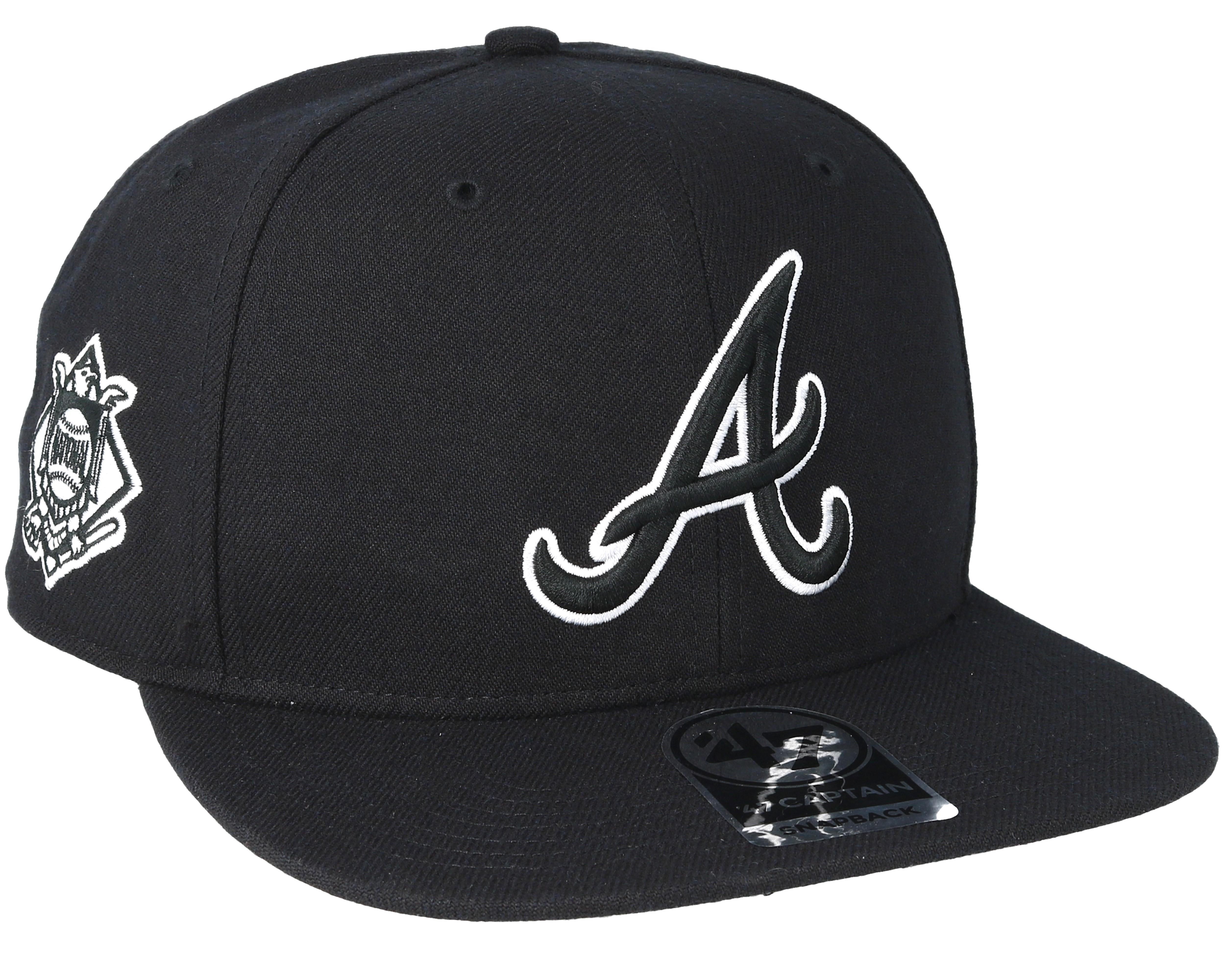 Atlanta Braves Sure Shot Black Snapback - 47 Brand caps  a81d5c4022b4