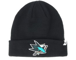 San Jose Sharks Raised Knit Black Cuff - 47 Brand