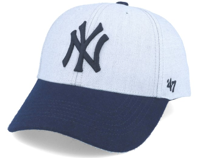 New York Yankees Munson Mvp Grey navy Adjustable - 47 Brand caps ... 973665f912d64