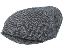 Brood Snap Dark Grey Flat Cap - Brixton