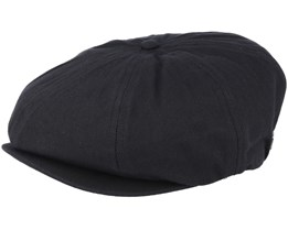 Brood Black Flat Cap - Brixton