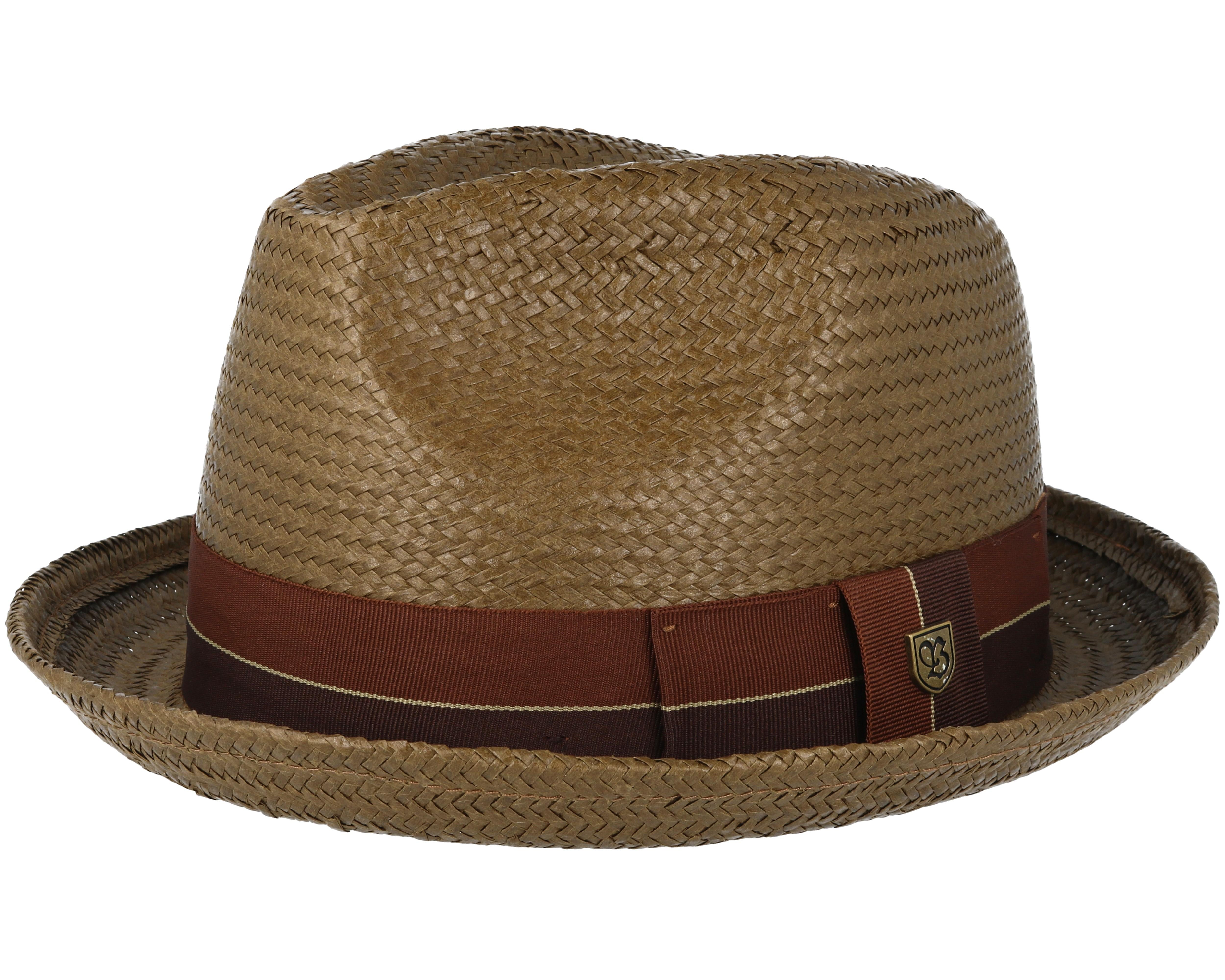 Castor Brown Fedora - Brixton - chapeau   Hatstore.fr 354950cf04f