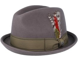 Gain Grey/Gold Fedora - Brixton