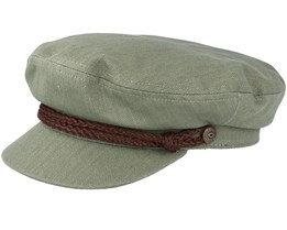 Fiddler Light Olive/Brown Flat Cap - Brixton