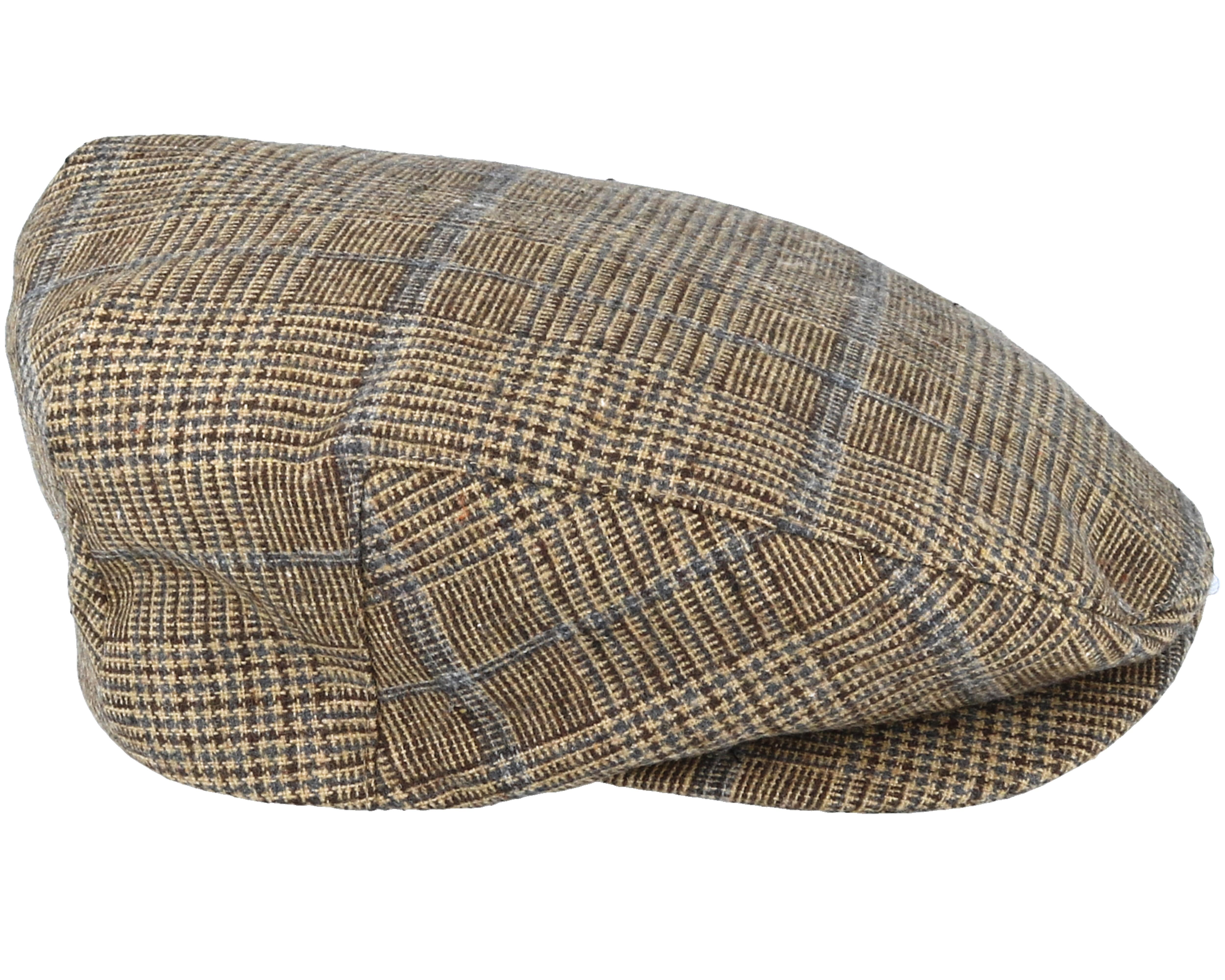 barrel brown plaid flat cap brixton caps. Black Bedroom Furniture Sets. Home Design Ideas