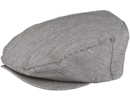 Barrel Grey Stripe Flat Cap - Brixton