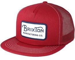 Grade White/Navy/Burgundy Trucker Snapback - Brixton