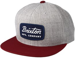Jolt Light Heather Grey Snapback - Brixton
