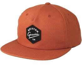 Yates Burnt Orange Snapback - Brixton