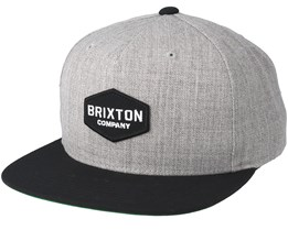 Obtuse Light Heather Grey/Black Snapback - Brixton