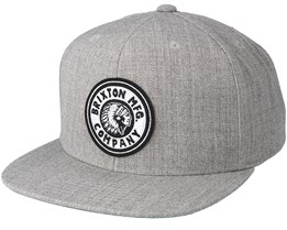 Rival Light Heather Grey/Off White Snapback - Brixton