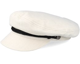 Fiddler Off White Flat Cap - Brixton