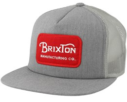 Grade Mesh Heather Grey Trucker - Brixton