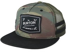 Bayonette Brush Camo Trucker Snapback - Burton