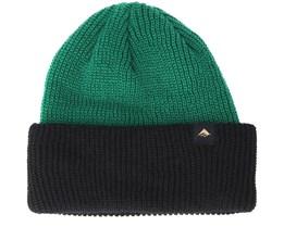 Triangle Cuff Green Black Beanie - Emerica