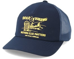 Beer And Fishing Dark Navy Trucker - Etnies