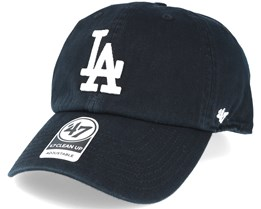 Los Angeles Dodgers Mlb `47 Clean Up Black Adjustable - 47 Brand