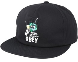 On Top Black Snapback - Obey