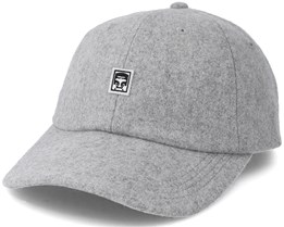 Eighty Nine 6 Panel Heather Grey Adjustable - Obey