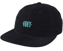 Hazel 6 Panel Black Adjustable - Obey