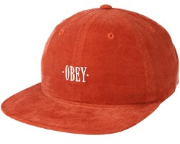 Hazel 6 Panel Rust Strapback - Obey