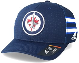 Winnipeg Jets Locker Room Structured Navy Flexfit - Adidas