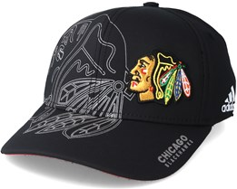Chicago Blackhawks Second Season Structured Black Flexfit - Adidas
