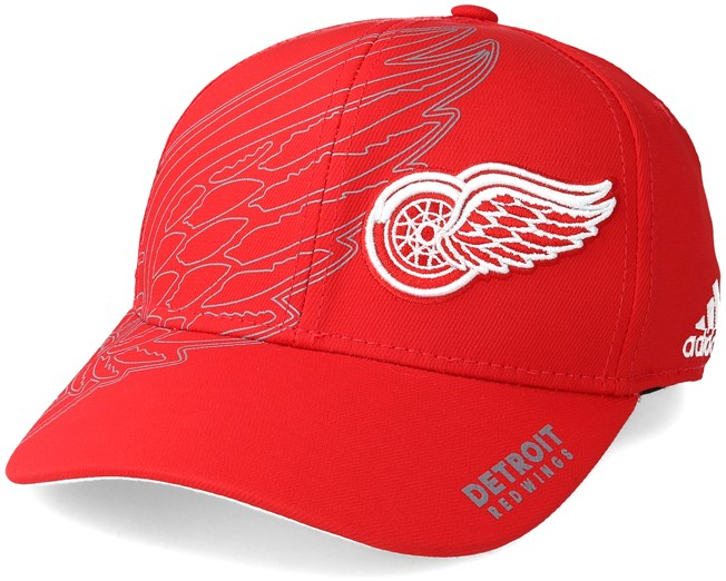 another chance 56f95 672bb ... where to buy detroit red wings second season structured red flexfit adidas  caps hatstore 415ad 42fc6