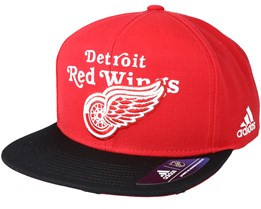 Detroit Red Wings Dassler Brim Red Snapback - Adidas