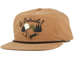 The Great Outdoors Light Brown Strapback - Coal