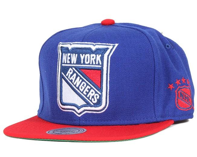 New York Rangers XL Logo 2 Tone Snapback - Mitchell & Ness