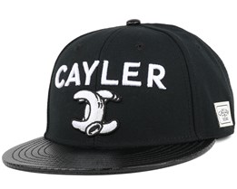 No. 1 Black/White Snapback - Cayler & Sons
