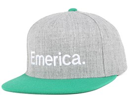 Pure Grey/Green Snapback - Emerica