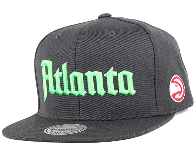 Atlanta Hawks Gothic City Grey Snapback - Mitchell & Ness